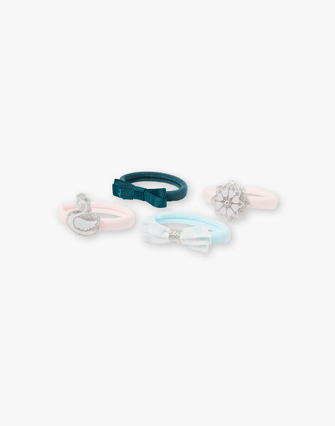 Lot de 4 élastiques bleus et roses  VEUFLOCETTE / 20H4PFA5ELA301