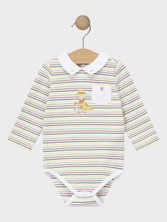 Body bébé garçon à rayures  TAAMORY / 20E1BGB1BOD001
