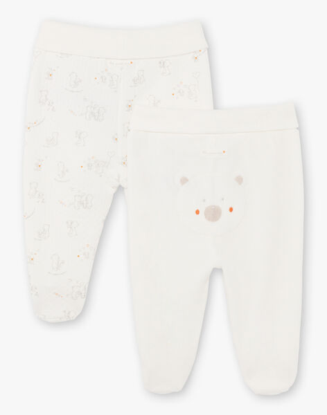 Lot de 2 pantalons pieds naissance mixte BOADEL / 21H0NM41PAN001