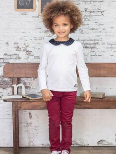 Pantalon bordeaux enfant fille BROSAETTE2 / 21H2PFB1PAN719
