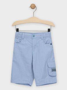 Bermuda bleu à petits carreaux garçon  TIGLAGE / 20E3PGO3BERC208