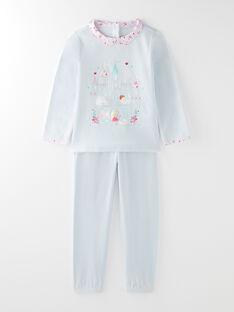 Pyjama en velours ciel petite fille VEJUMETTE / 20H5PF23PYJ020