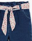 Pantalon en jean denim bébé fille BAANGELE / 21H1BF11PANP270