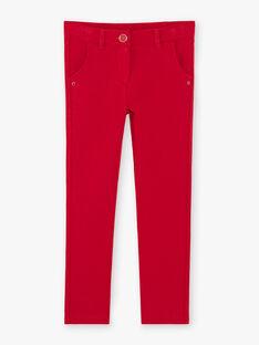 Pantalon rouge maille milano enfant fille ZLUPETTE3 / 21E2PFK3PAN719