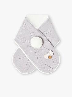 Écharpe grise en lurex pompon  VAKOALA / 20H4BFJ2ECH940