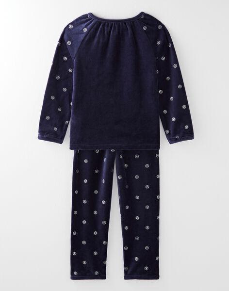 Pyjama bleu nuit petite fille  VEJOLETTE / 20H5PF35PYJ705