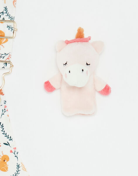 Chasuble imprimée en velours côtelé et marionnette bébé fille VAKLELIA / 20H1BFR1CHS001