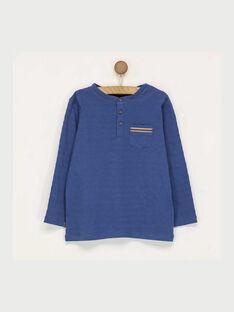 Tee shirt manches longues bleu marine RASICAGE1 / 19E3PGB1TML221