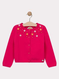 Cardigan rose fille  TOUPETTE / 20E2PFG1CAR302