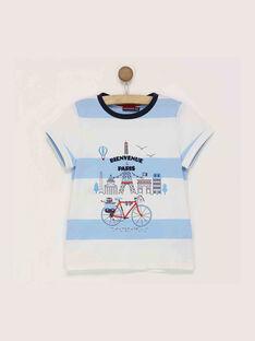 Tee shirt manches courtes bleu RYOBAGE / 19E3PGT1TMC205