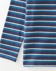 Polo manches longues rayés bleu et blanc VUGAGE 2 / 20H3PGC4POL202