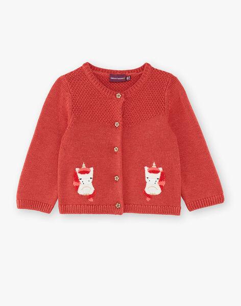 Cardigan marron en tricot  VAKAMILLE / 20H1BFR1CARI816