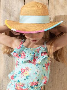 Chapeau de paille détails multicolores enfant fille ZECHAPETTE / 21E4PFS1CHA009