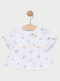 Blouse écrue fleurie bébé fille  TAOLIVIA / 20E1BFO1CHE000