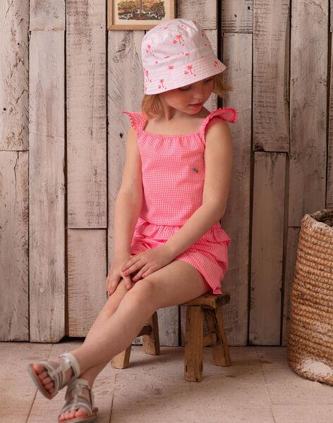 Combishort à carreaux vichy enfant fille ZYCOMETTE / 21E2PFU1SACD311