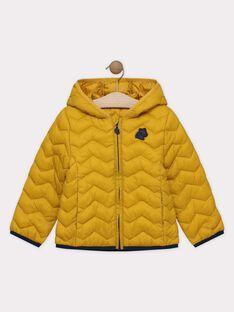 Doudoune manches longues jaune à capuche SERAPAGE-1 / 19H3PGG2DML010