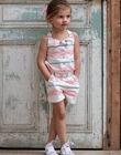 Combinaison short à rayures colorées et nœud enfant fille ZUQOBETTE / 21E2PFT1SAC001