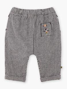 Pantalon à carreaux noir bébé garçon BADARIUS / 21H1BG21PAN090