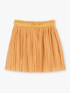 Jupe plissée moutarde enfant fille BROJUPETTE1 / 21H2PFB3JUPB106