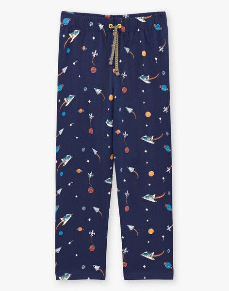 Ensemble pyjama T-shirt, pantalon et masque bleu foncé enfant garçon BEFUSAGE / 21H5PG61PYJ717