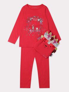 Pyjama rose fuchsia sur le thème de l'indienne fille. TEJENORETTE 1 / 20E5PF52PYT304
