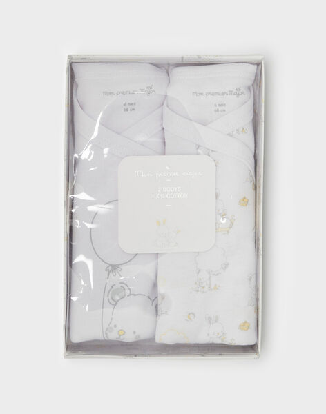Lot de deux bodies écru bébé mixte  TUVAPIN / 20E0NMR1BOD000