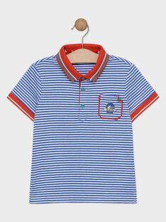 Polo à rayures bleues et blanches garçon  TEXOUAGE / 20E3PGH1POL216