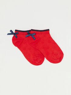 Chaussettes rouges basses petite fille  TUIFAETTE / 20E4PFW1SOBF503