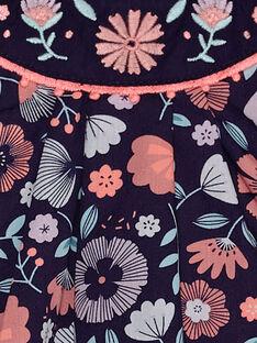 Barboteuse violette imprimée fleurie bébé fille  TAQLODINE / 20E1BFP1BAR711
