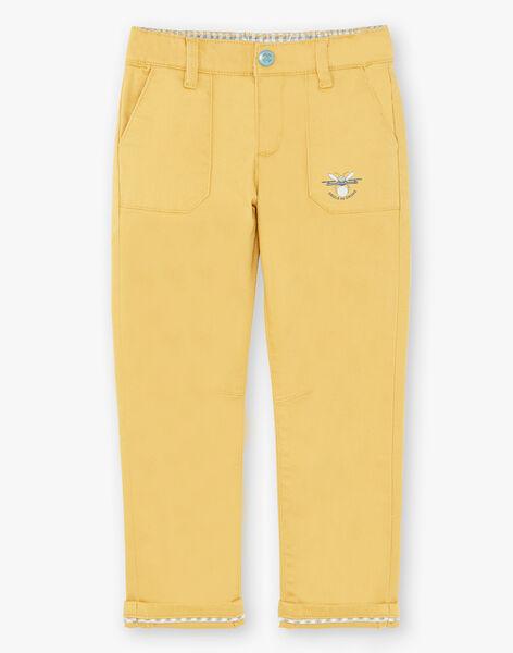 Pantalon jaune grandes poches  ZATRIAGE / 21E3PG92PANB114
