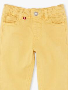 Pantalon jaune 5 poches enfant garçon ZAZITAGE3 / 21E3PGK4PAN010