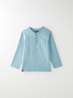 Tee-shirt manche longue bleu VUNIAGE 4 / 20H3PGC5TMLC200