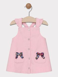 Chasuble rose avec volants sur bretelles bébé fille SAELLA / 19H1BF41CHS301