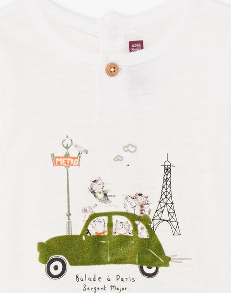 T-shirt manches courtes gris clair bébé garçon BADAEL / 21H1BG21TMC632