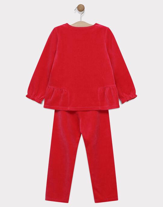 Pyjama en velours à volants SYDINETTE / 19H5PF57PYJF507