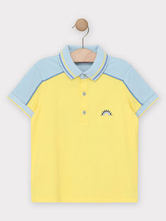 Polo jaune garçon  TIFLIAGE / 20E3PGO2POL106
