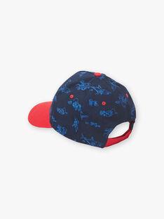 Casquette bleu marine et rouge en twill enfant garçon ZICASCAGE / 21E4PGT1CHAC214