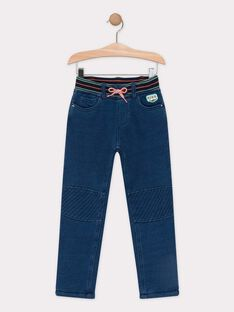 Pantalon bleu effet denim doublé polaire garçon TACOAGE / 20E3PGB1JEAP269