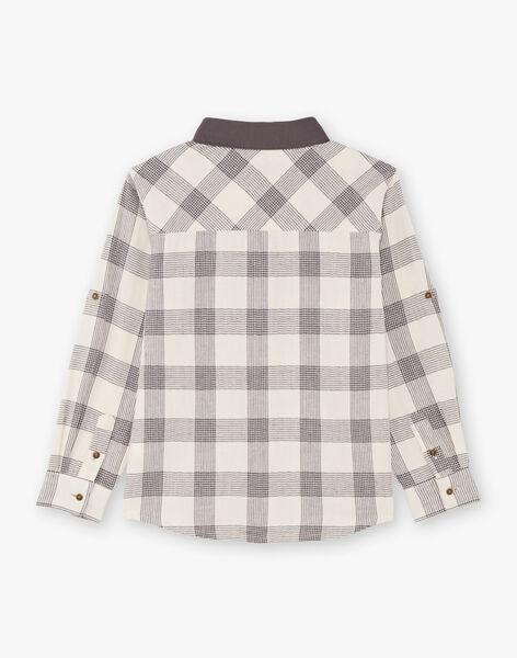 Chemise à carreaux bicolore enfant garçon BASHIRTAGE / 21H3PG21CHM001