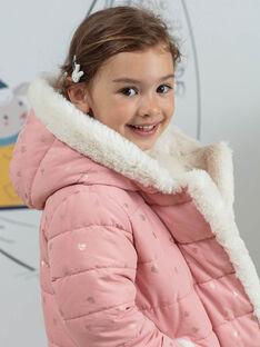Doudoune rose réversible enfant fille BLODOUETTE1 / 21H2PFD1D3ED300