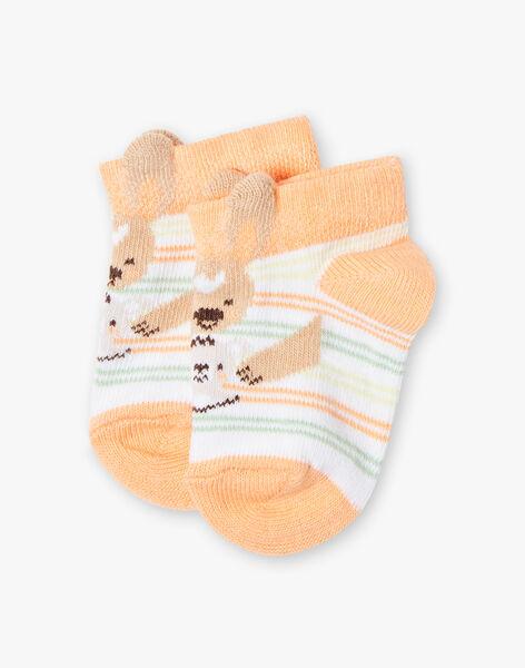 Chaussettes rayées motif kangourou bébé garçon TAWILL / 20E4BGX1SOB001