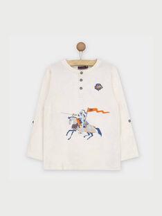 Tee shirt manches longues blanc RABESAGE / 19E3PG41TML001