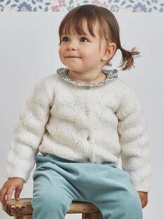 Cardigan écru maille fantaisie bébé fille BAOSTINE / 21H1BFO1CAR001