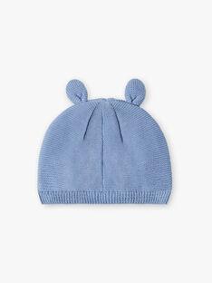Bonnet de naissance bleu bébé garçon ZOLEON / 21E0AGG1BNAC203