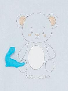 Grenouillère bleue et bonnet bébé garçon  TUVITALI B / 20E0NGR2GRE213