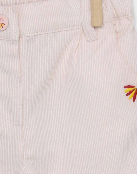 Pantalon rose RAFLORINE / 19E1BFC1PAND300