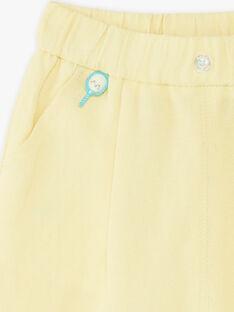 Pantalon jaune en toile bébé garçon ZAMELVIN / 21E1BGO1PANB104