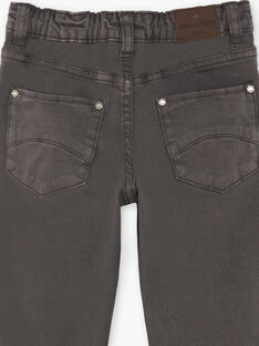 Pantalon gris foncé 5 poches enfant garçon ZAZITAGE2 / 21E3PGK1PAN942