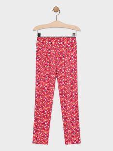 Pantalon imprimé floral rose fille TAEFIETTE 2 / 20E2PFM2PANF510