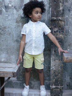 Bermuda cargo jaune enfant garçon ZELOUAGE / 21E3PGO1BERB104
